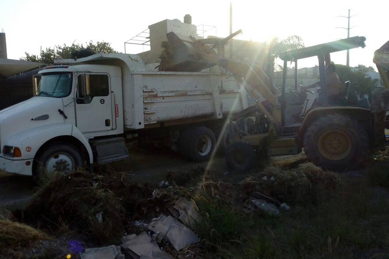 Limpian terreno en Gómez Palacio