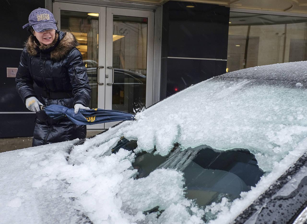 Tormentas cubren de nieve a EU