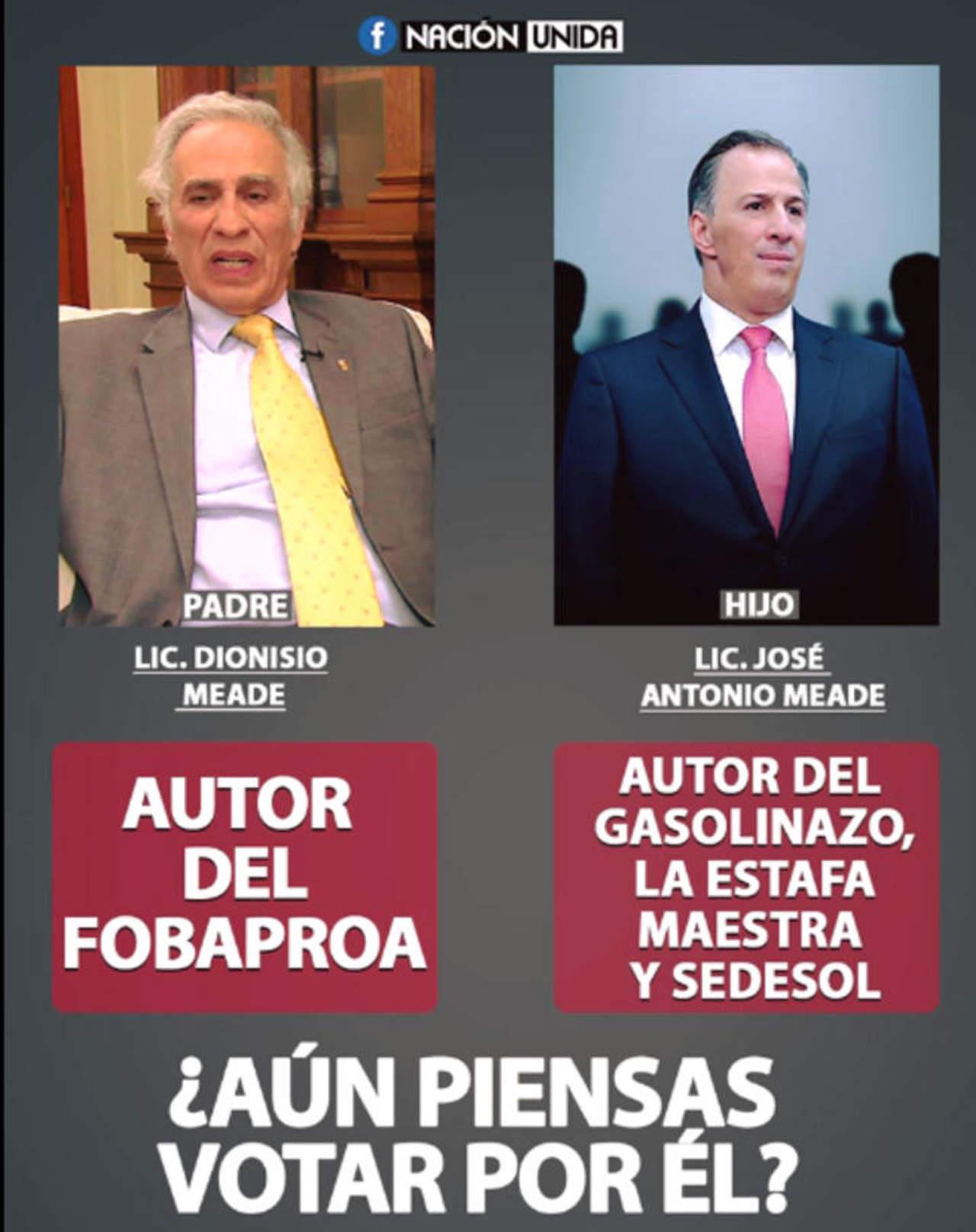 Padre de José Antonio Meade no es el autor del Fobaproa