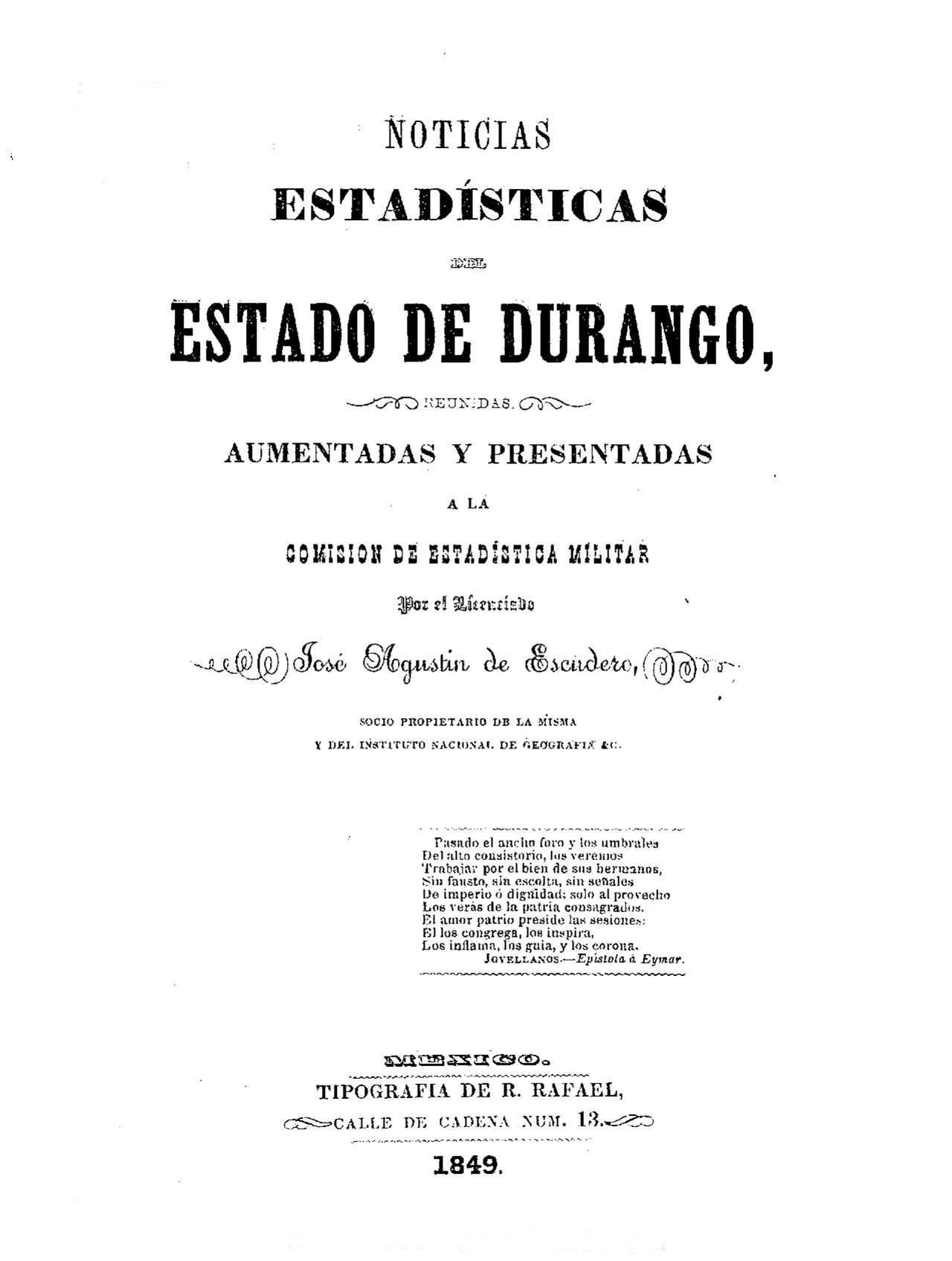 José Agustín de Escudero, su padre y su etapa en España