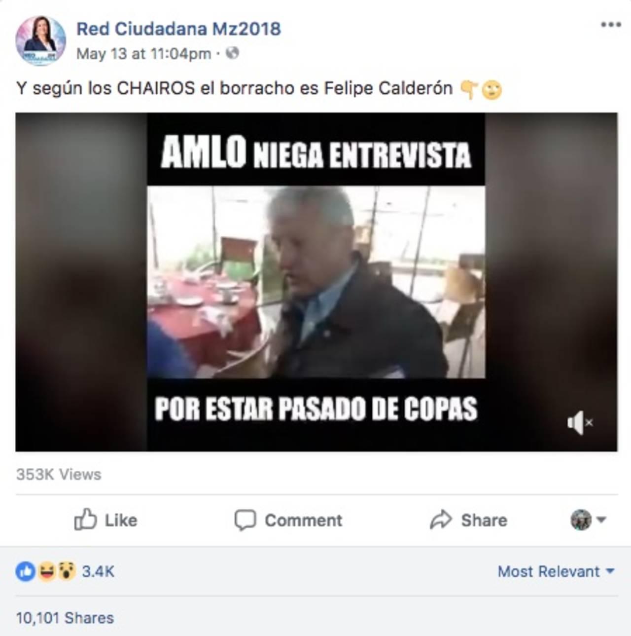 Video alterado muestra a AMLO alcoholizado