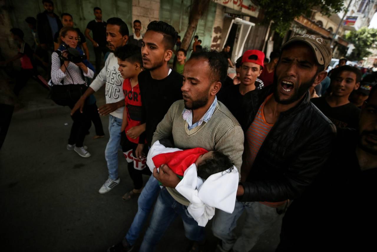 Muere bebé en Gaza por inhalar gases