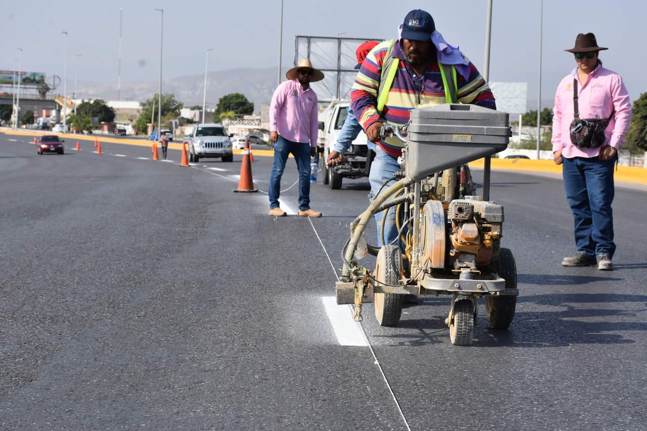 Inicia trazo de carriles en bulevar Ejército Mexicano de Gómez Palacio