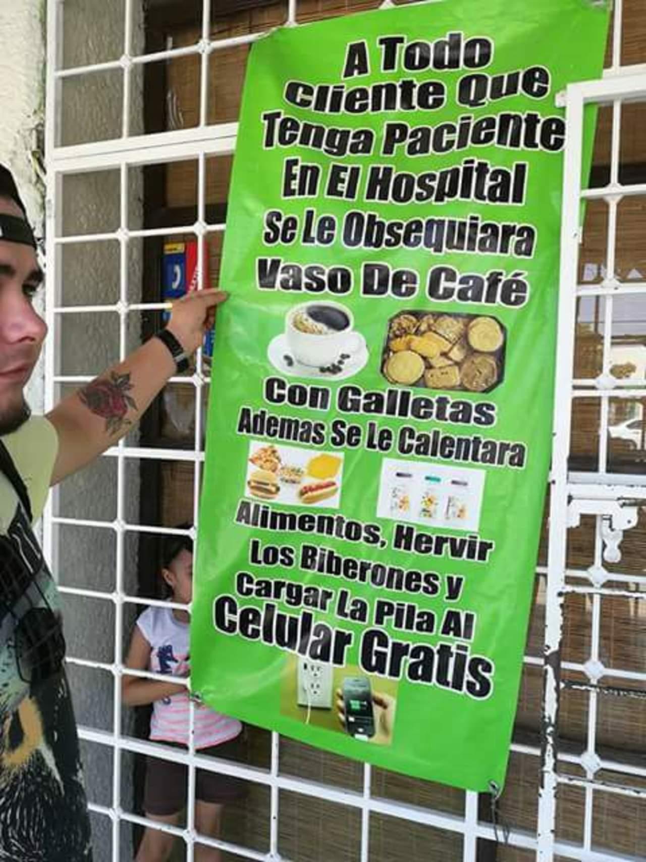 Cuelgan conmovedor mensaje en un comercio cerca de hospital en Francisco I Madero