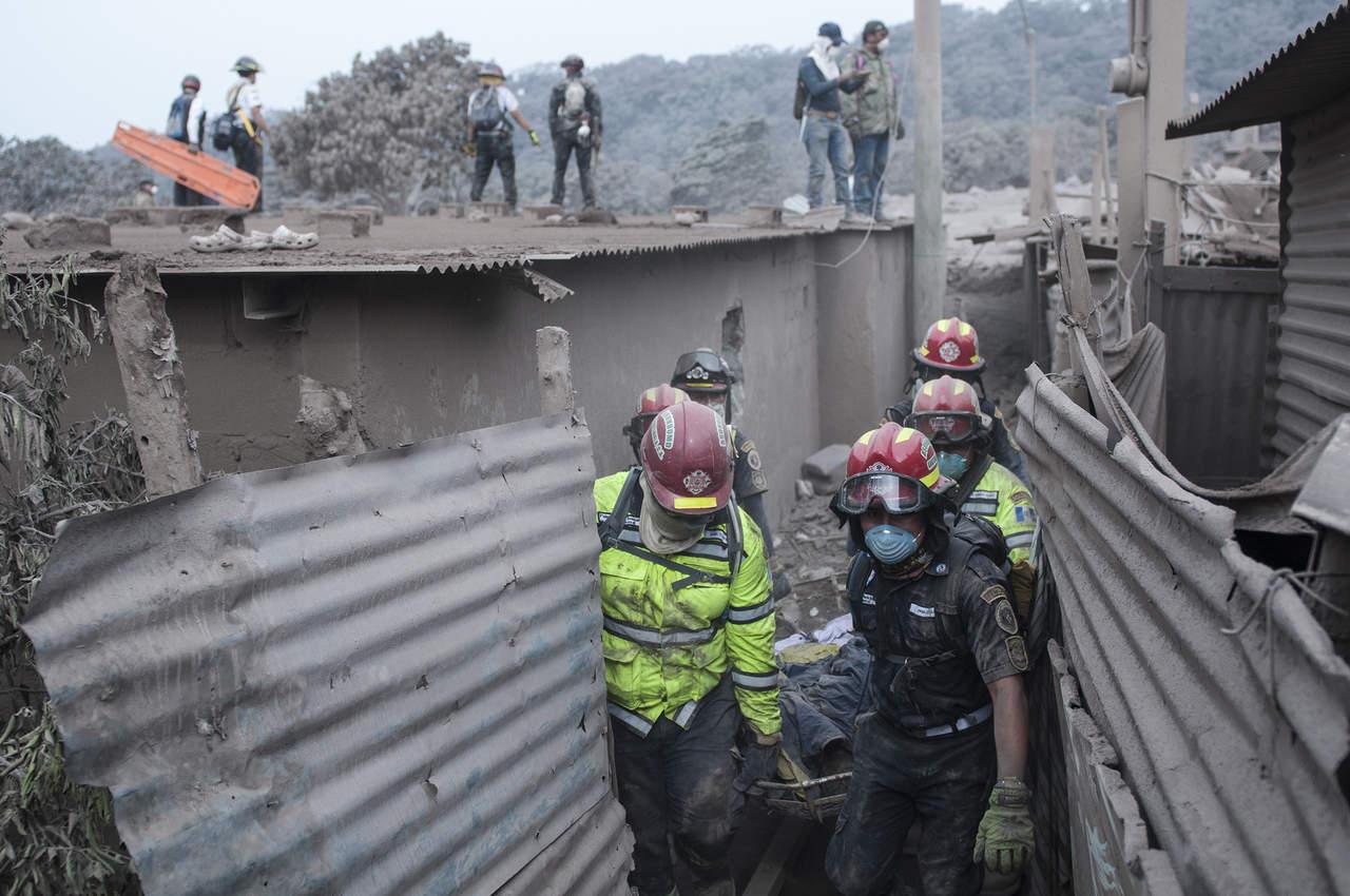 Sube a 62 los muertos por Volcán de Fuego en Guatemala