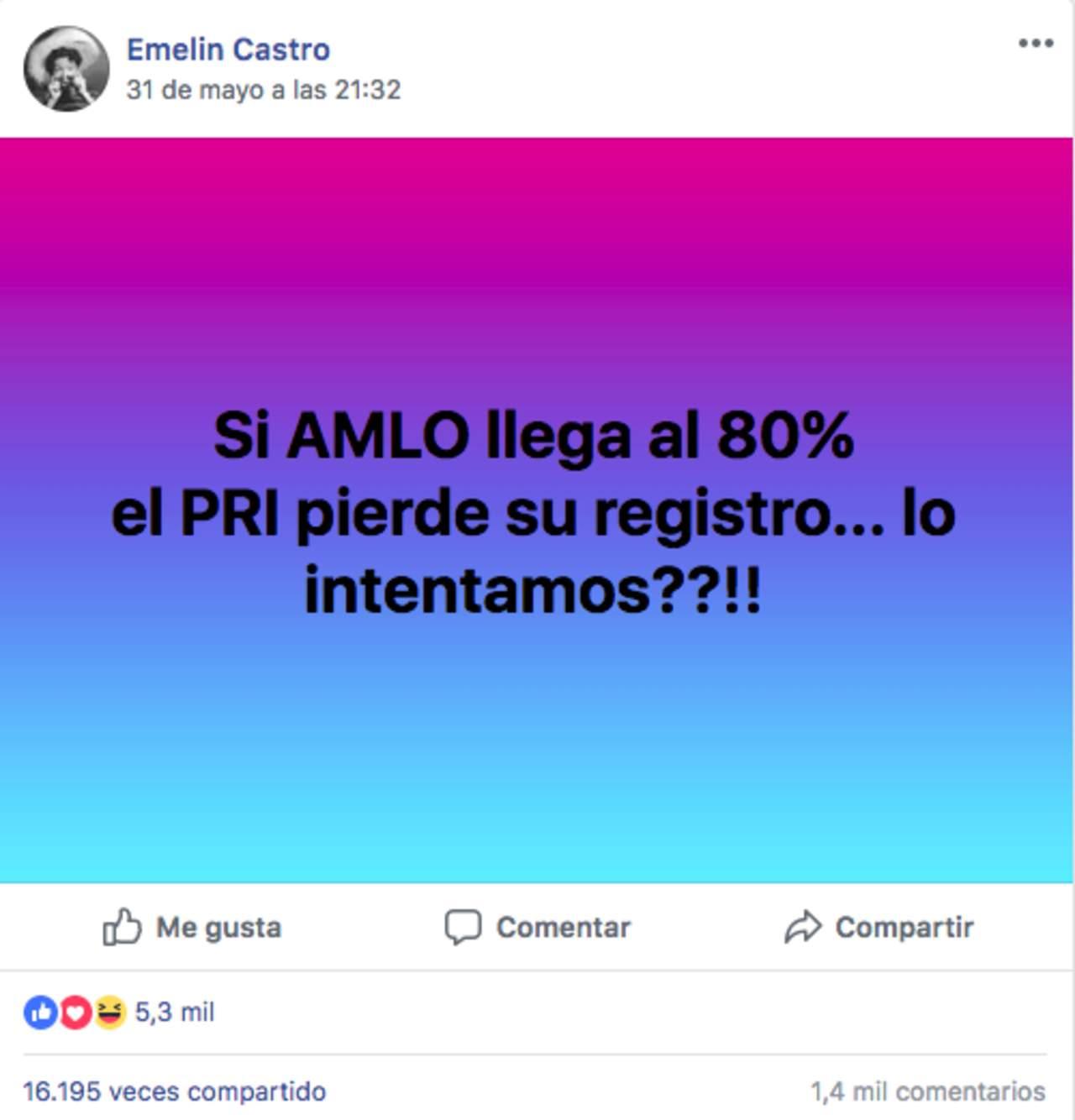 El PRI no perdería su registro si López Obrador obtiene 80% de los votos