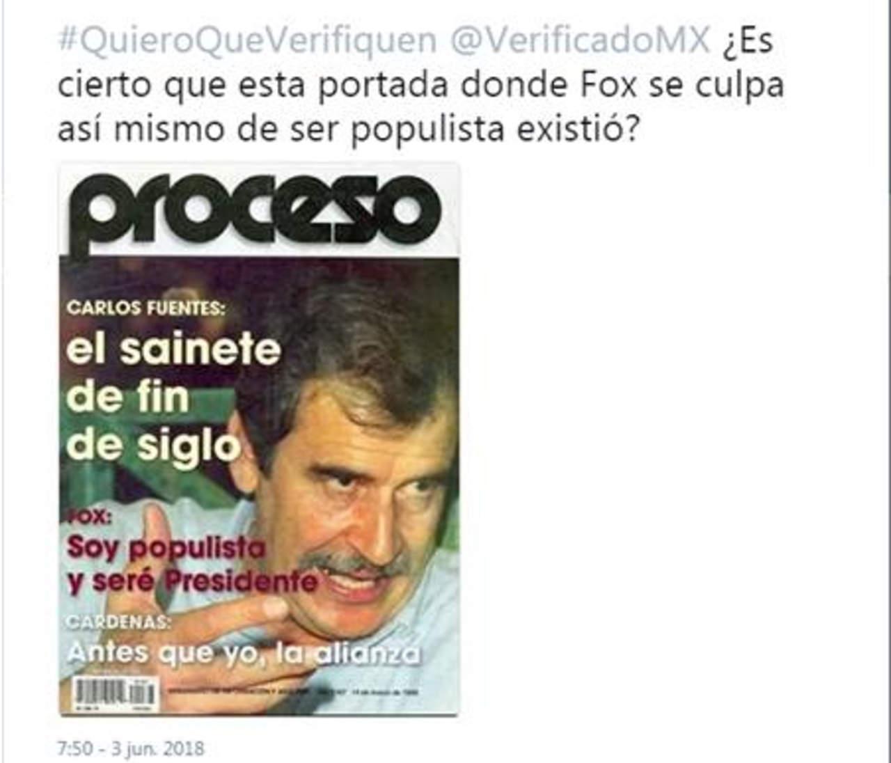 #EstoSíPasó: Hoy es un crítico del populismo, pero en su campaña presidencial Vicente Fox se decía populista