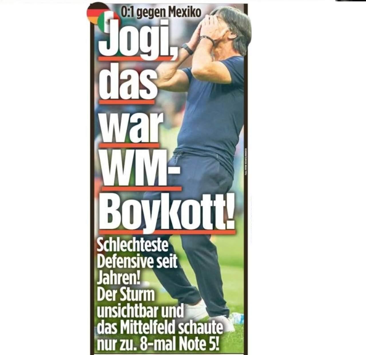 Prensa alemana critica la derrota contra México