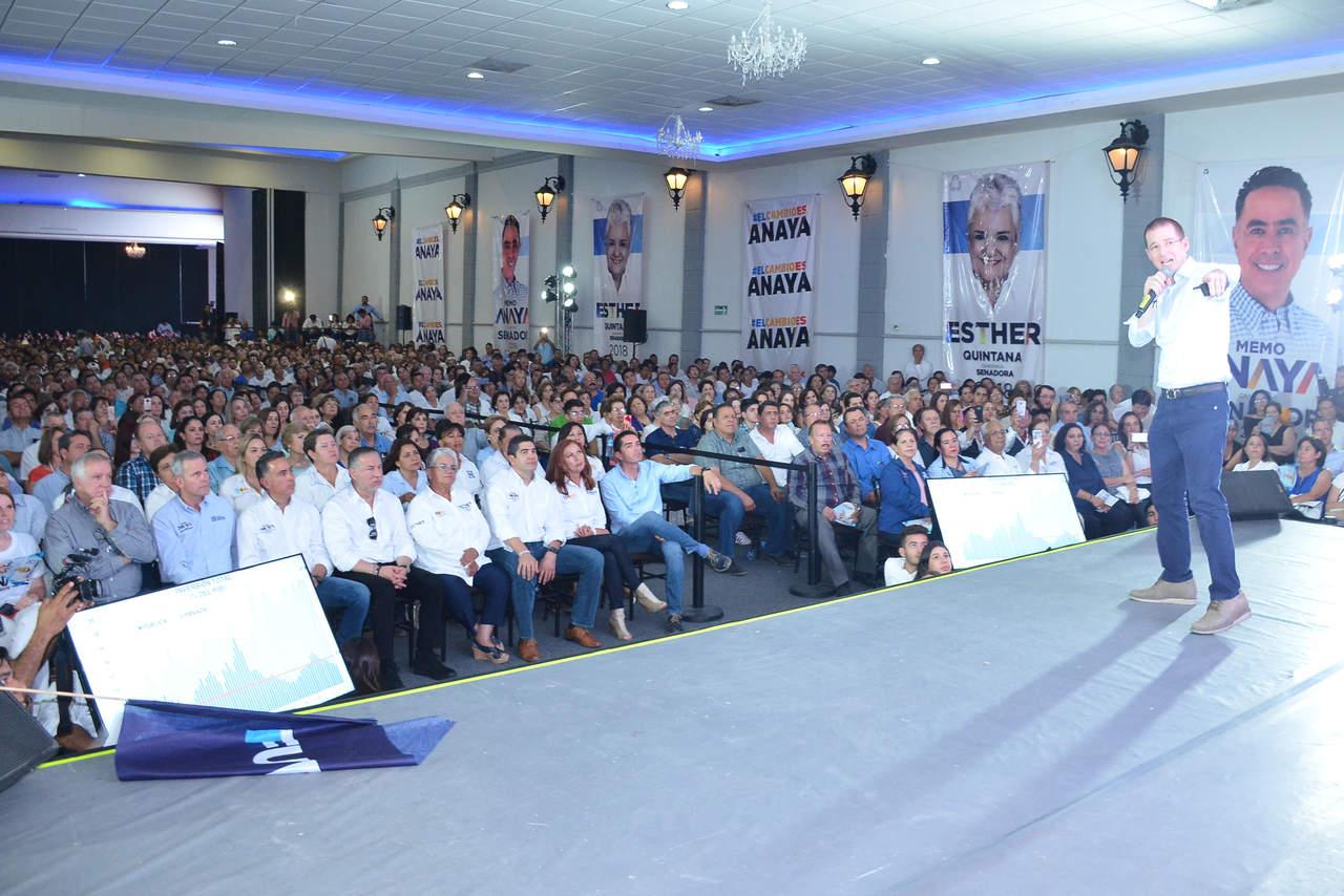 Cierra Ricardo Anaya campaña en Torreón