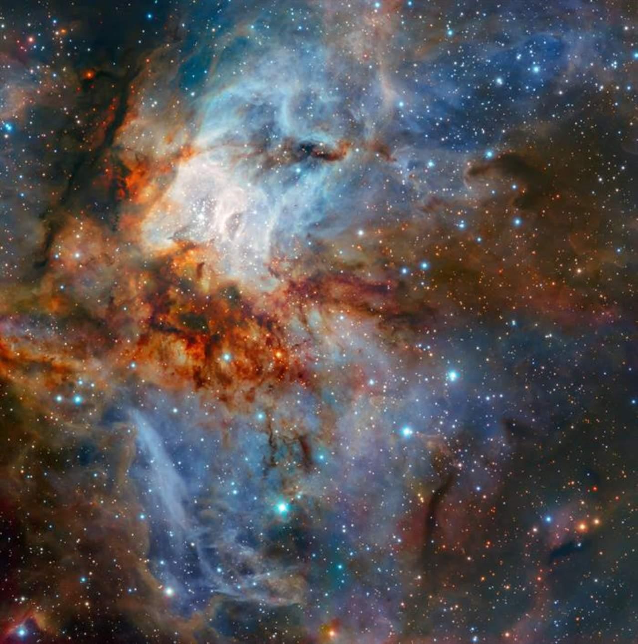 Captan imagen detallada del cúmulo estelar RCW 38