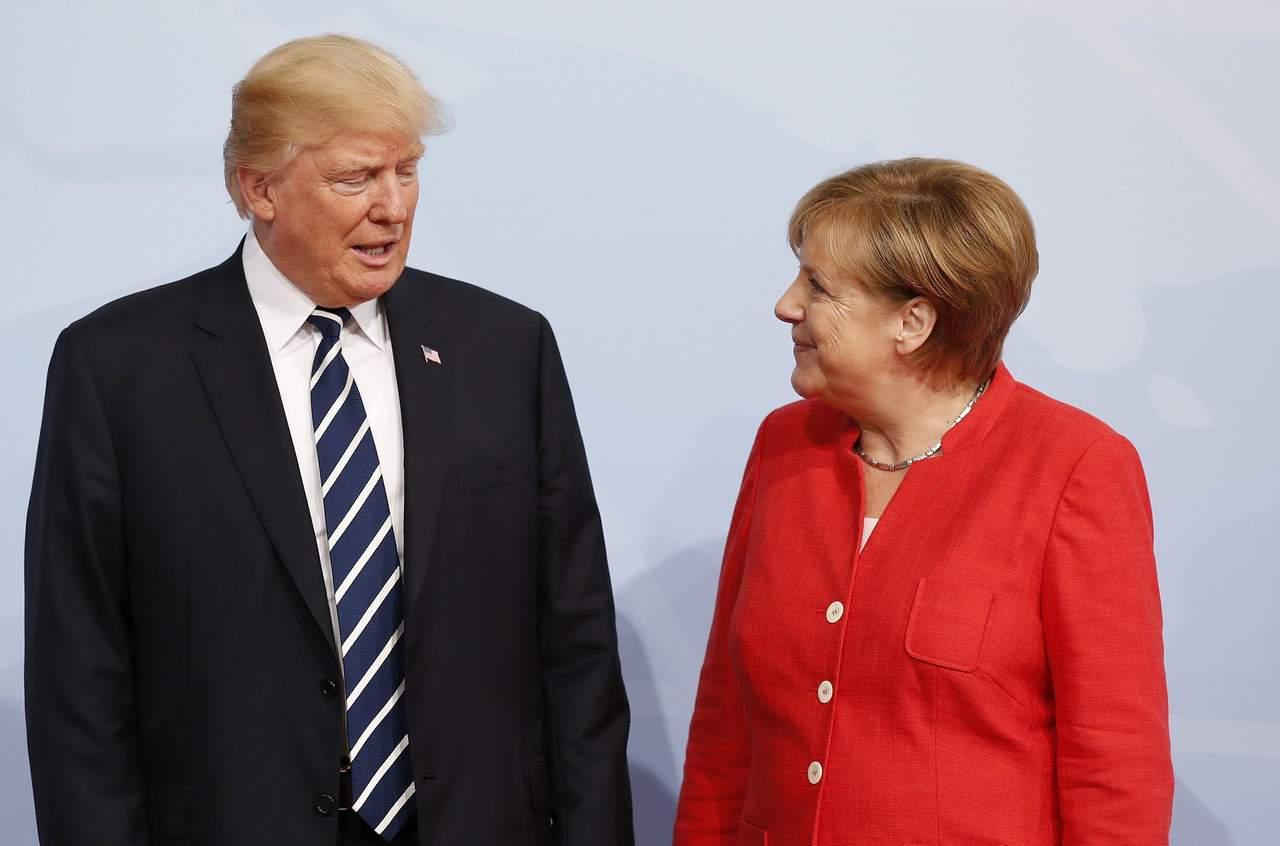 Pese a críticas, Merkel y Trump aseguran mantener buena relación