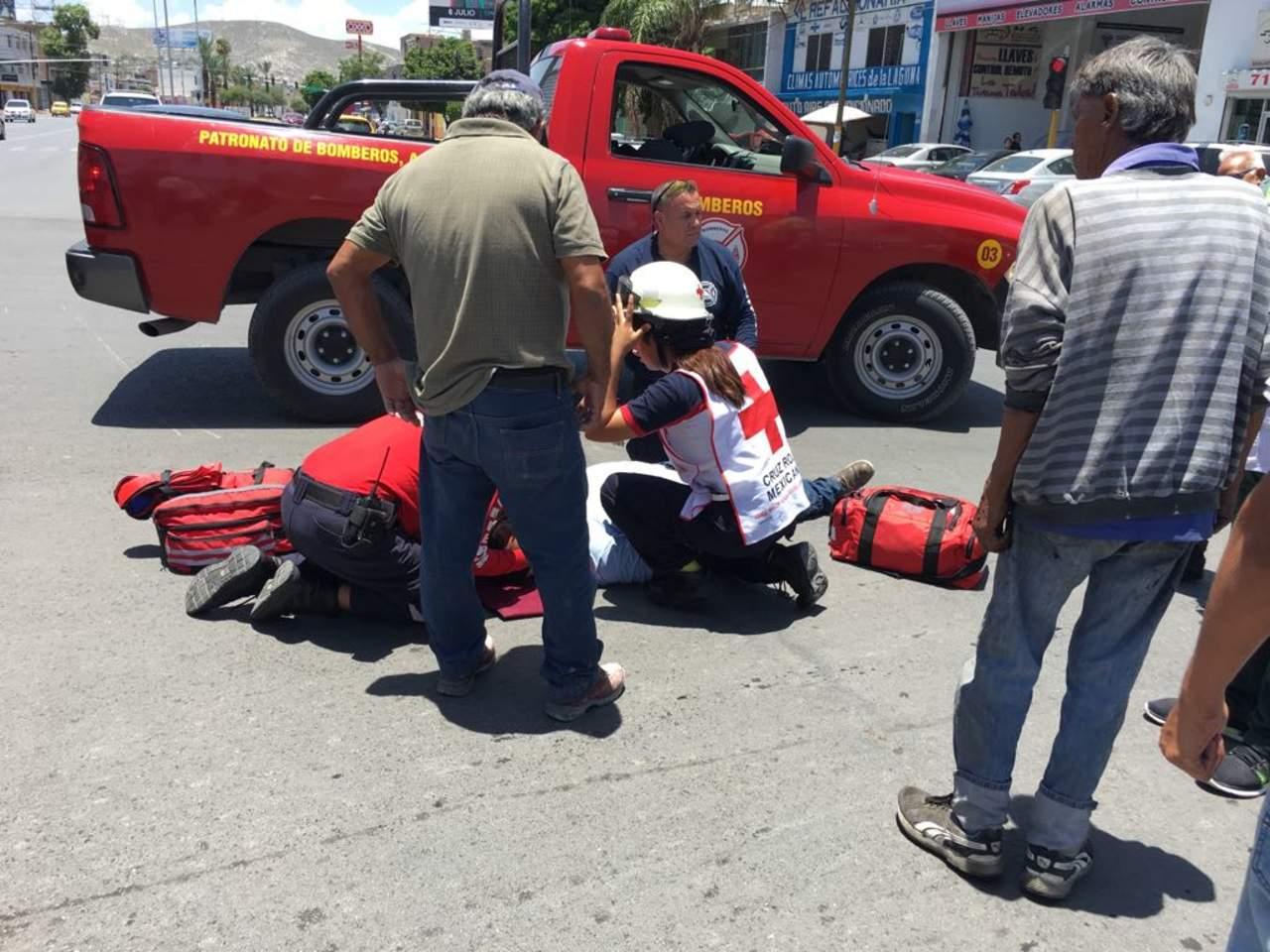 Atropellan a motociclista en el centro de Torreón
