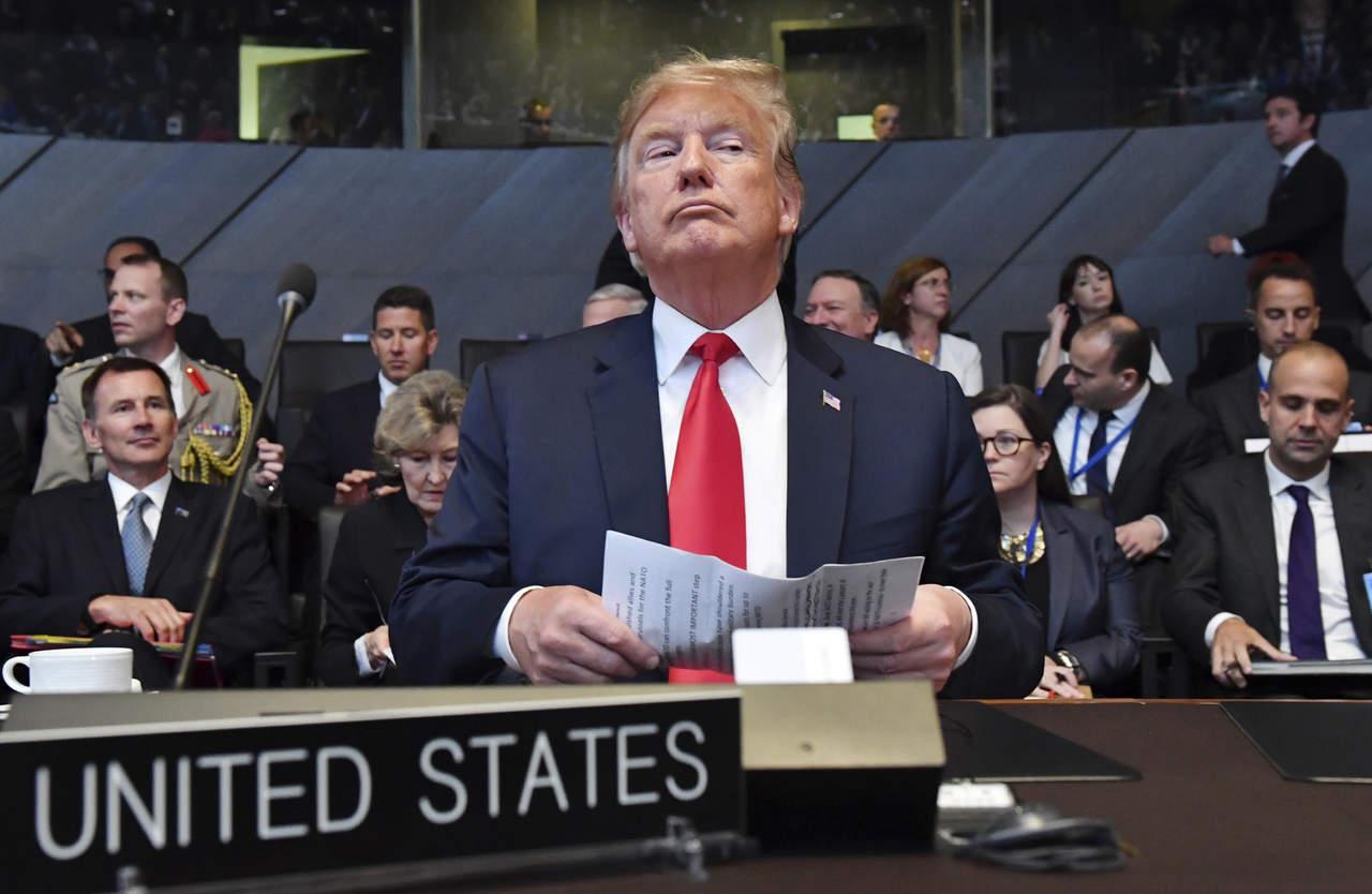 Trump exige a aliados de OTAN aumentar contribuciones