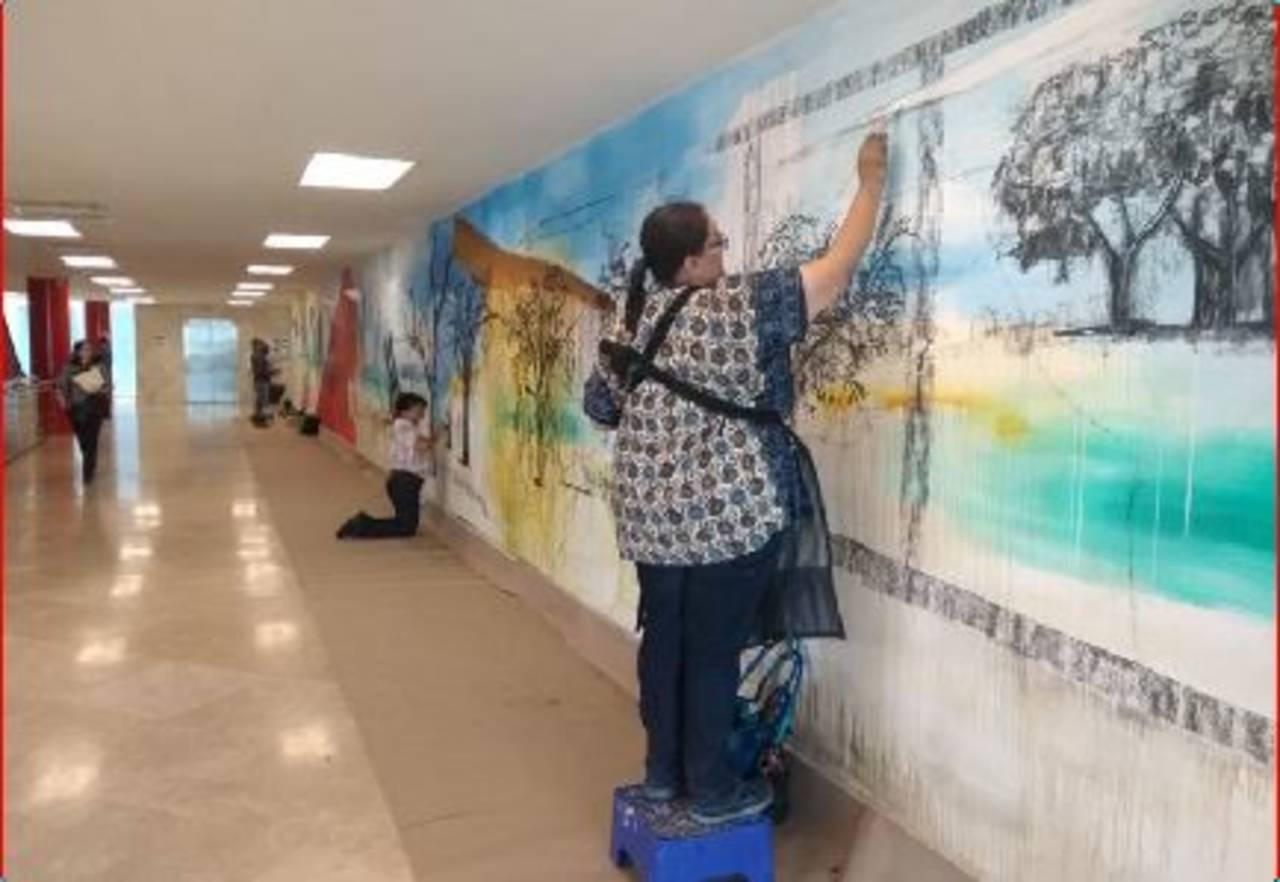 Presentan segunda intervención mural