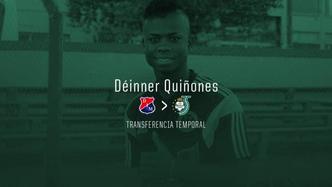 Déinner Quiñones llega para reforzar a Santos