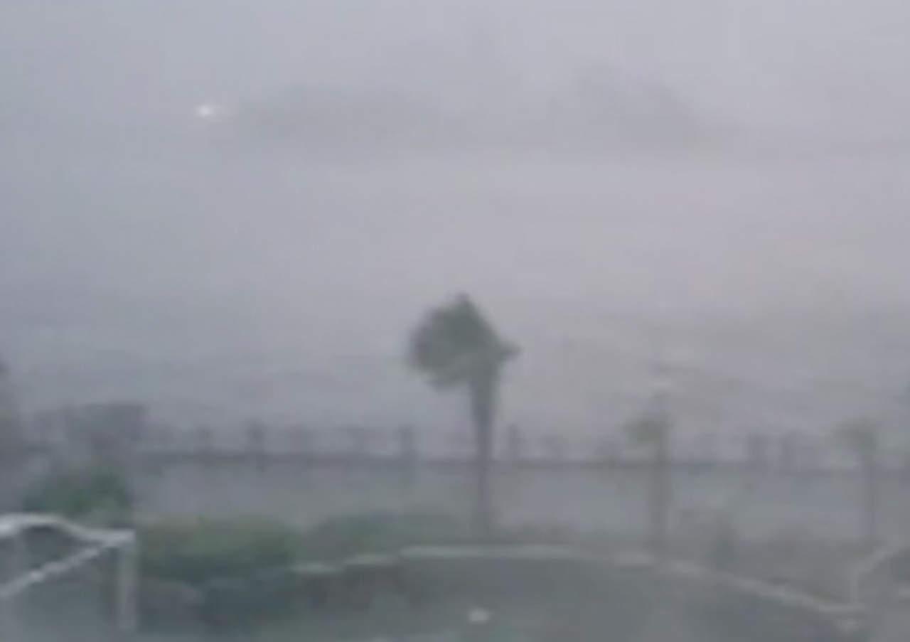 VIDEO: La fuerza del huracán Florence y sus daños