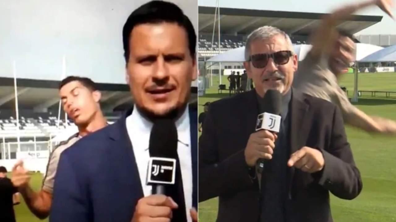 Cristiano hace graciosas burlas a la prensa de Juventus