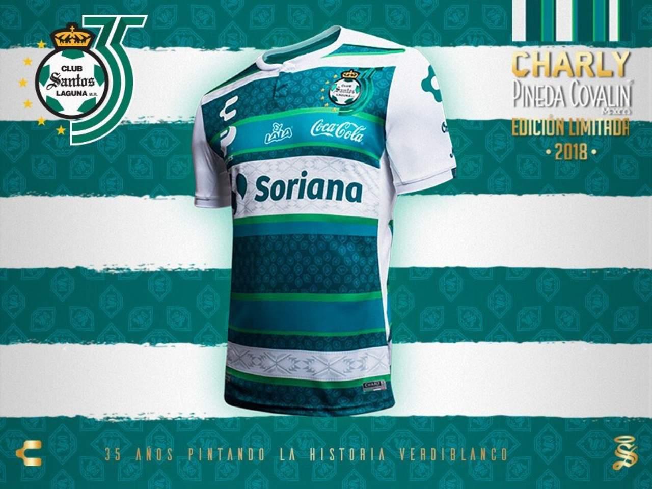 Santos presenta jersey por 35 aniversario