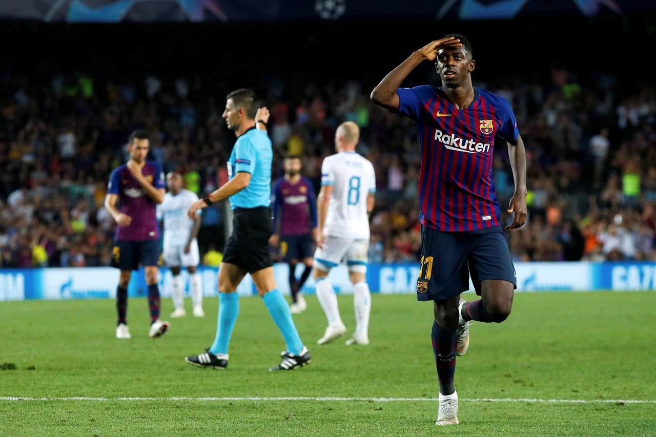 Barcelona golea al PSV en arranque de la Champions League
