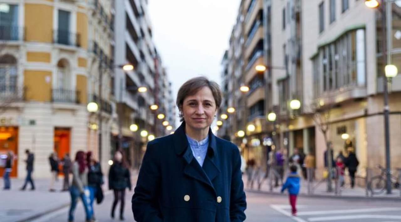 Carmen Aristegui recibe premio Zenger a la Libertad de Prensa