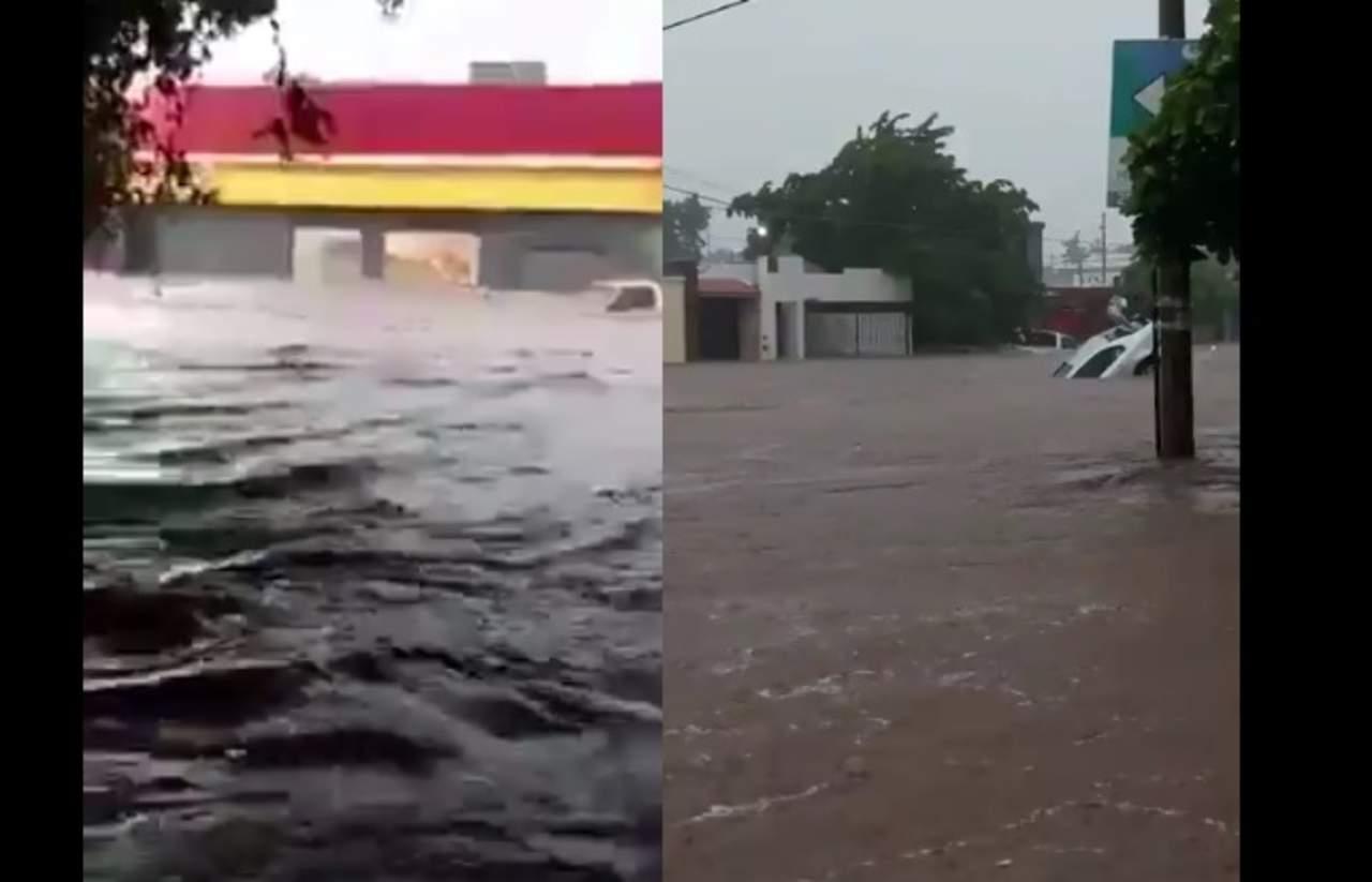 Usuarios comparten videos de las inundaciones en Sinaloa