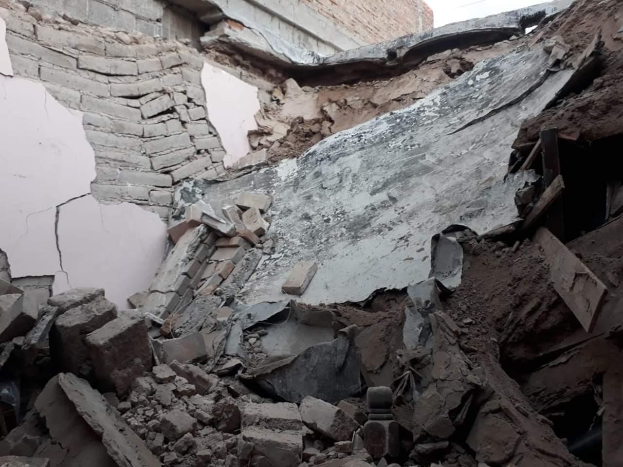 Colapsa techo de vivienda en la colonia Lucio Blanco