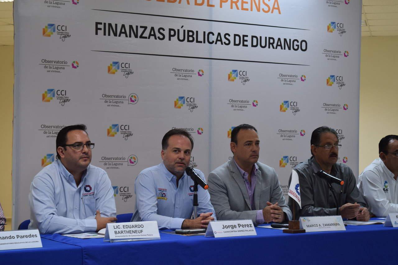 Señala CCI deficiente manejo de recursos públicos en Durango