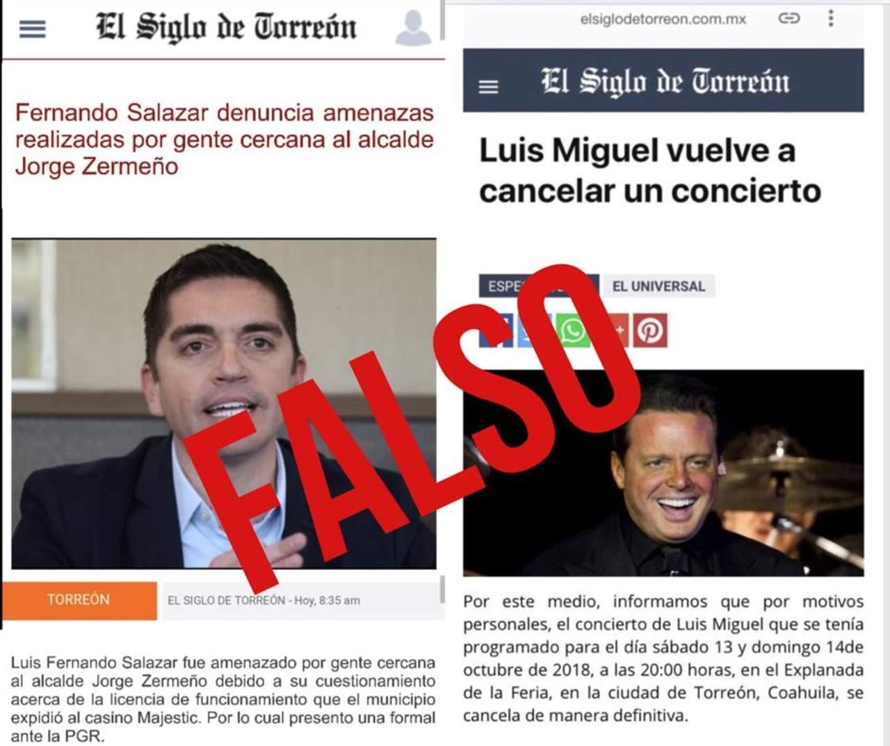 Utilizan diseño de El Siglo para difundir noticias falsas
