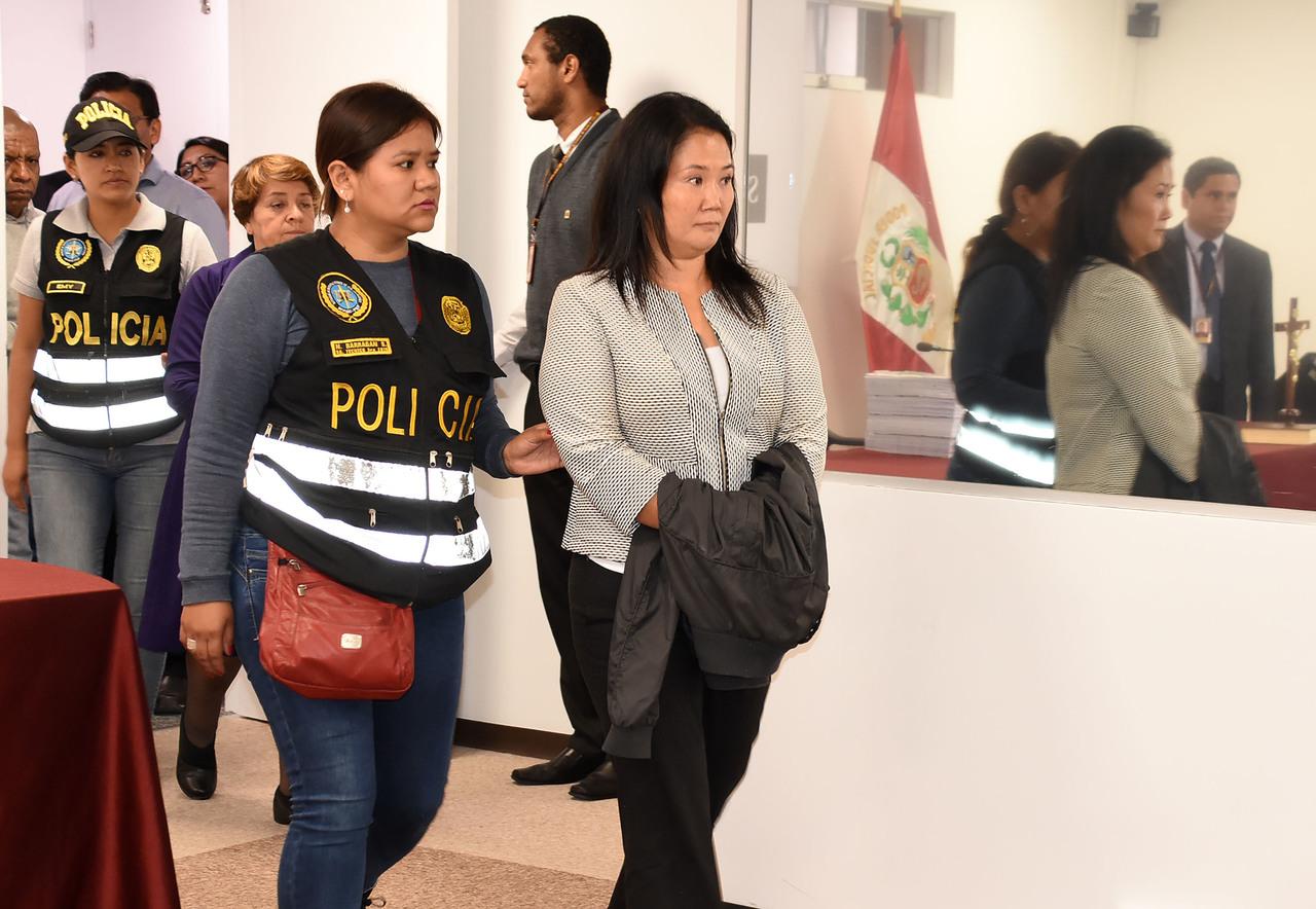 Detienen a Keiko Fujimori por lavado