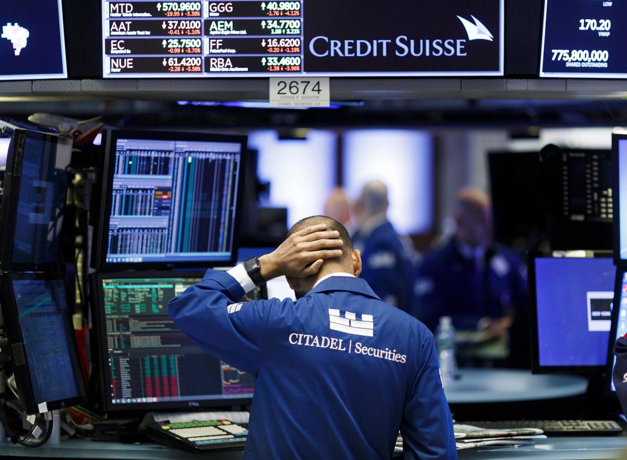 Caen índices en Wall Street