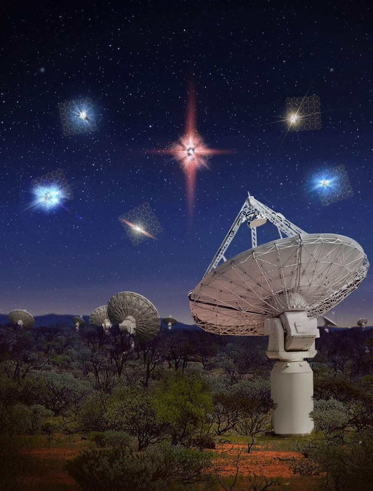 Detectan gran cantidad de explosiones de radio rápidas en el espacio profundo