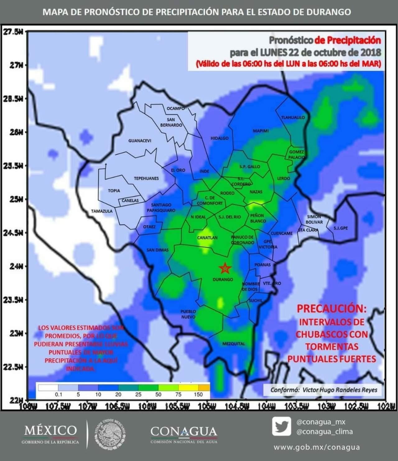 Alertan a Mapimí con posibilidad de tormentas por