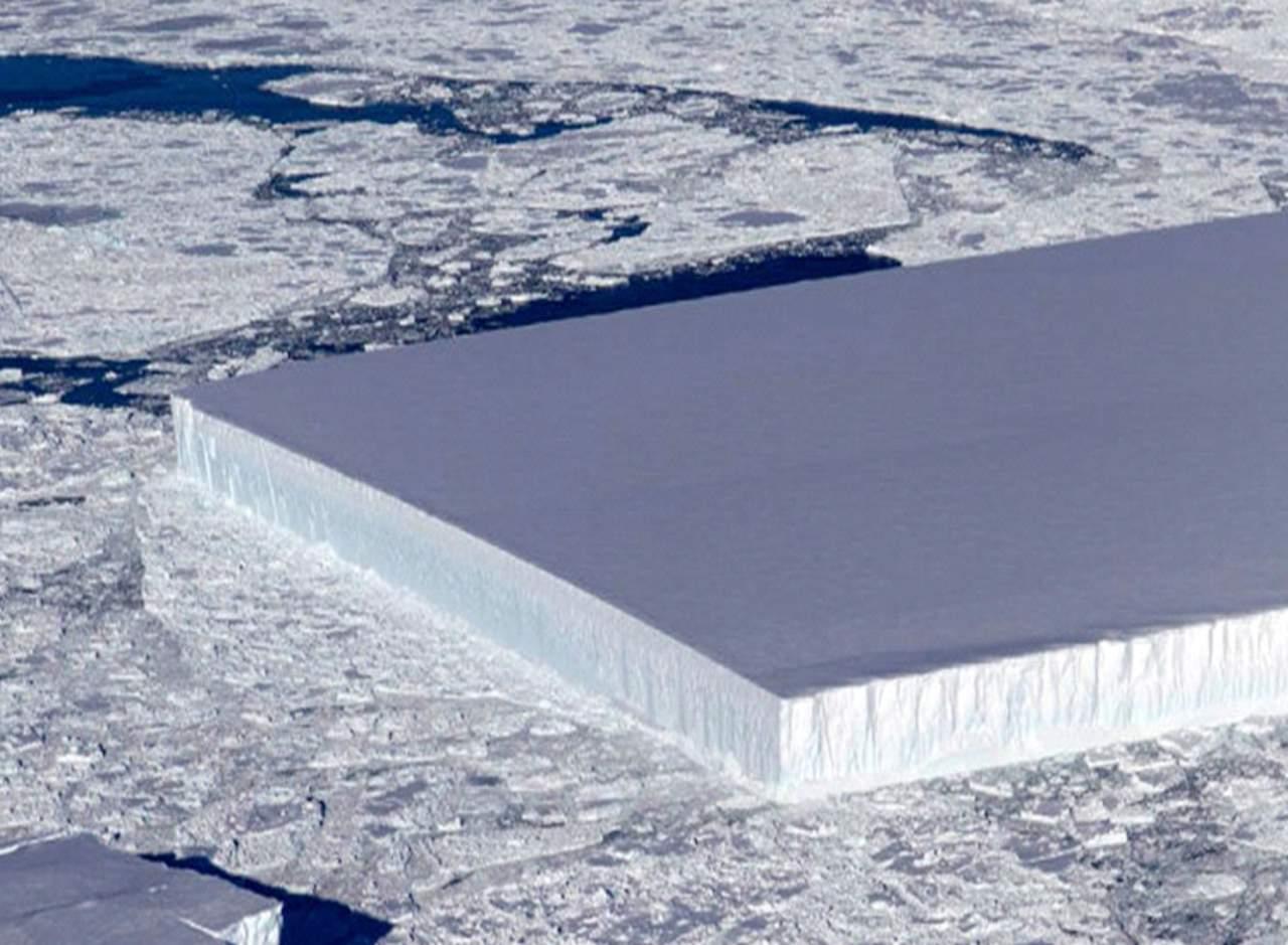 ¿Cómo es posible que haya un iceberg rectangular?