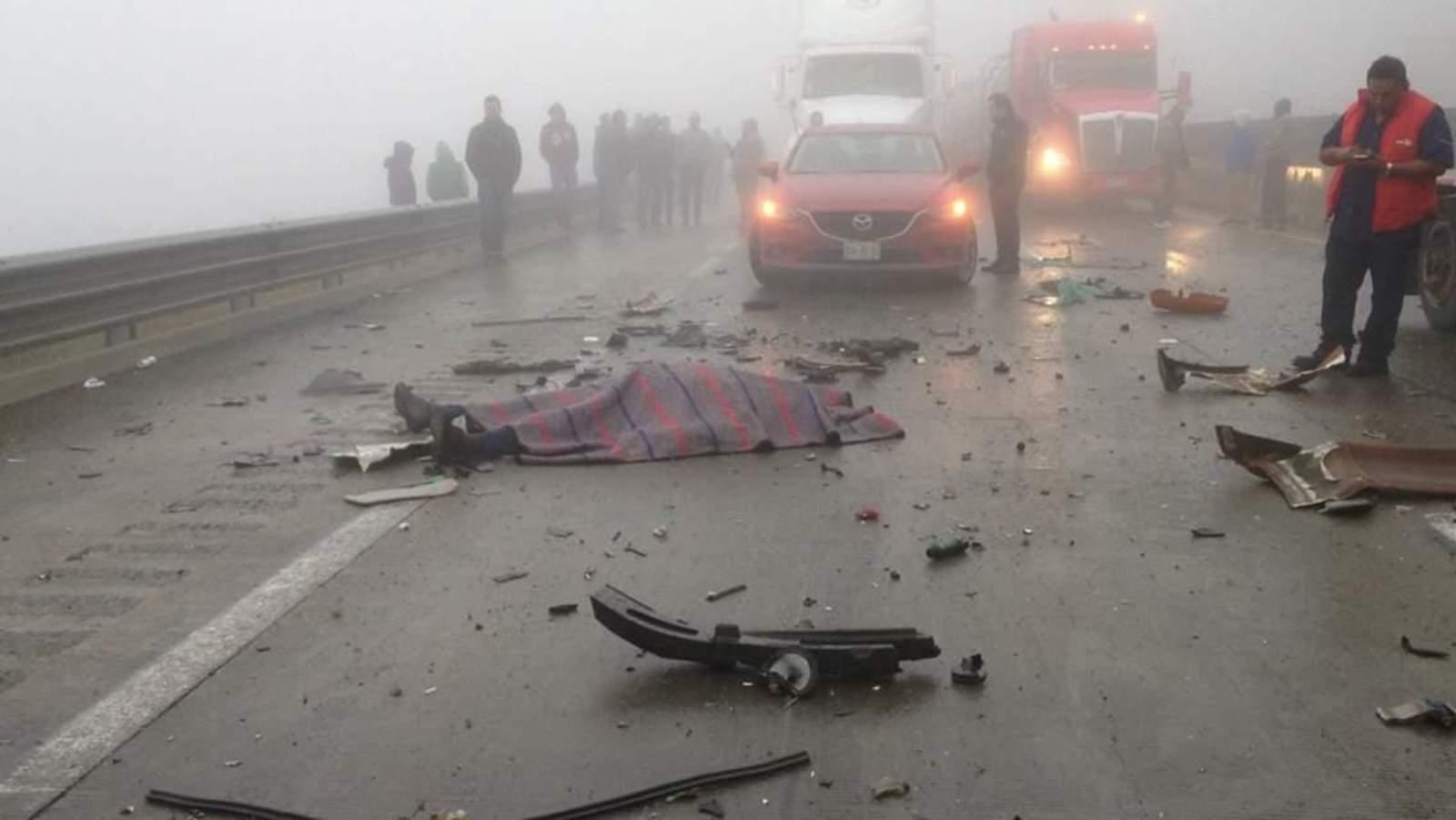 Accidente en la Saltillo-Monterrey deja dos muertos