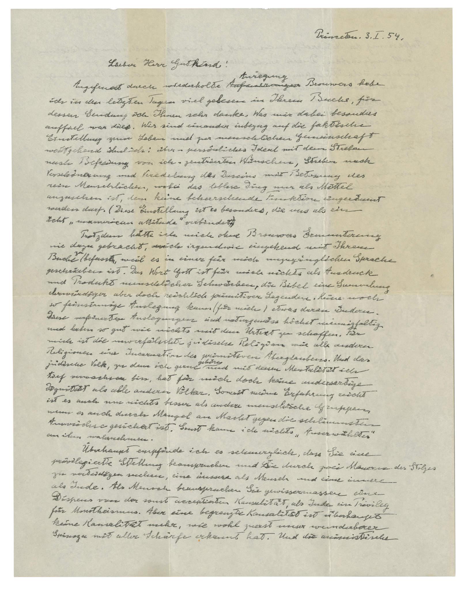 Una carta de Einstein se vende en 2.9 mdd