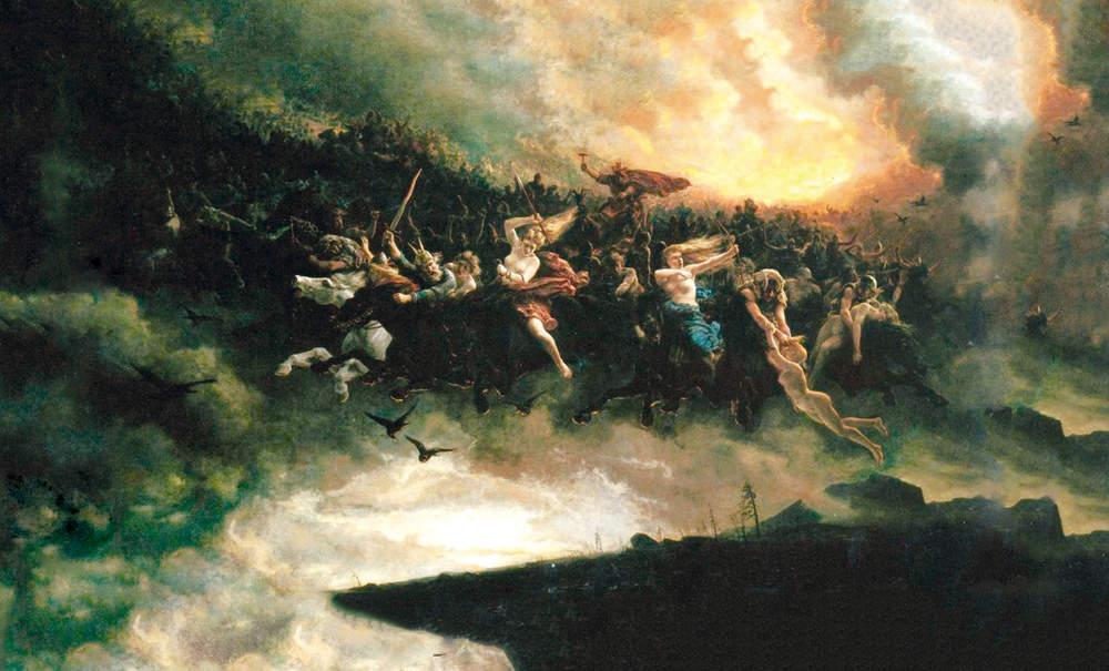 Aasgaardreien, pintura de Peter Nicolai Arbo. Wagner se basó en la mitología nórdica para El Anillo del Nibelungo, una de sus más grandes obras. Foto: Galería Nacional de Noruega