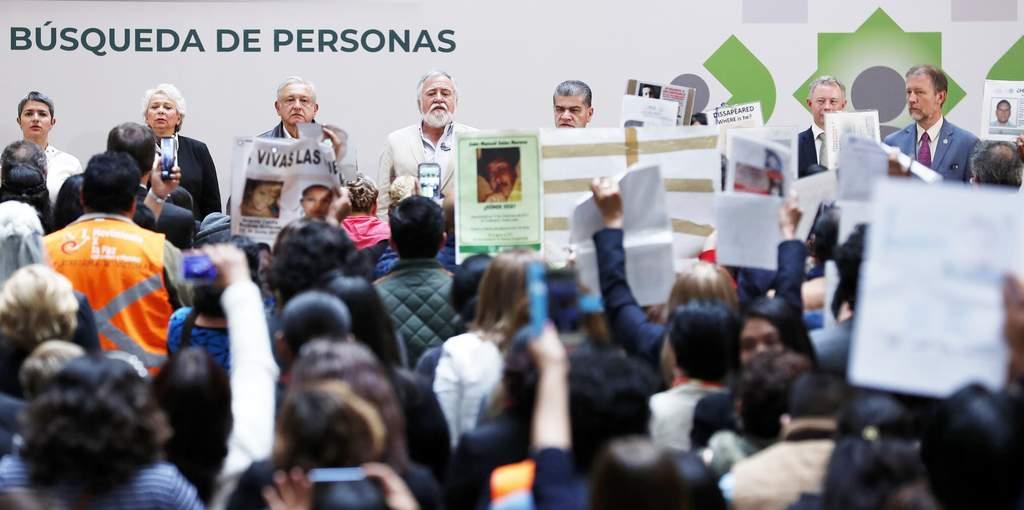 Ante colectivos de familias de desaparecidos, se reactivó el Sistema Nacional de Búsqueda. (NOTIMEX)
