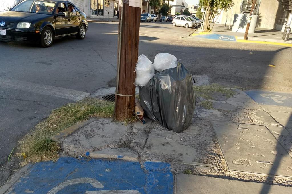 Los perros callejeros riegan por la calle la basura, por lo que piden atender el reclamo. (EL SIGLO DE TORREÓN)