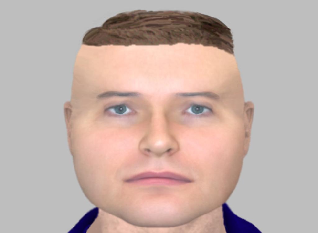 La gente no se tomó en serio el caso porque el retrato del sospechoso les parece gracioso. (INTERNET)