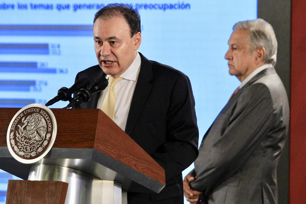 El secretario mexicano de Seguridad Pública y Protección Ciudadana, Alfonso Durazo, afirmó este lunes que el actual Gobierno ha logrado
