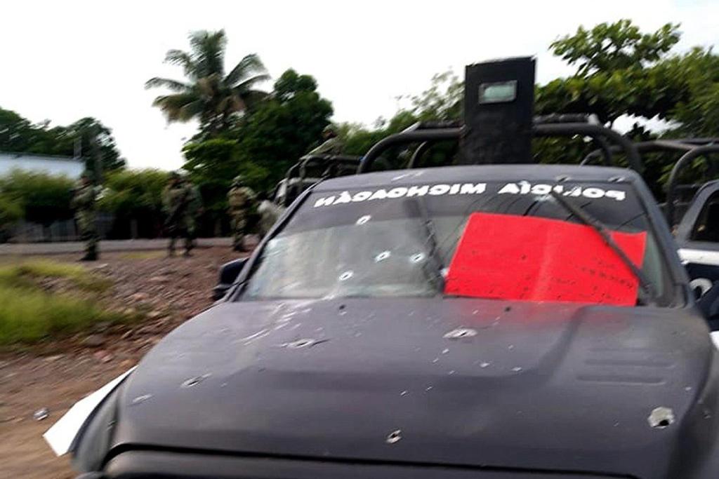 La Secretaría de Seguridad y Protección Ciudadana (SSPC) condenó el ataque a un convoy en el que catorce elementos de la Policía Estatal murieron en el municipio de Aguililla, Michoacán. (EFE)