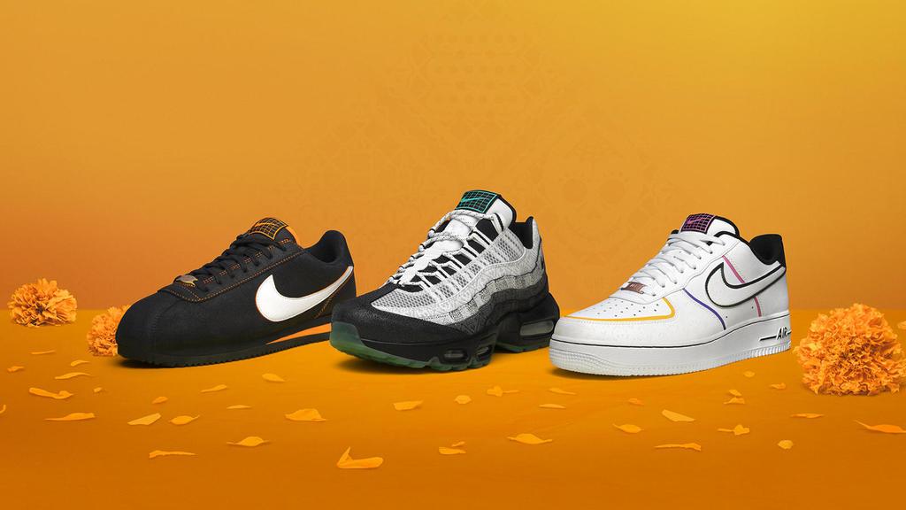 Se trata de los modelos más reconocidos de la marca: Nike Air Force 1, Nike Air Max 95 y Nike Cortez. (ESPECIAL)