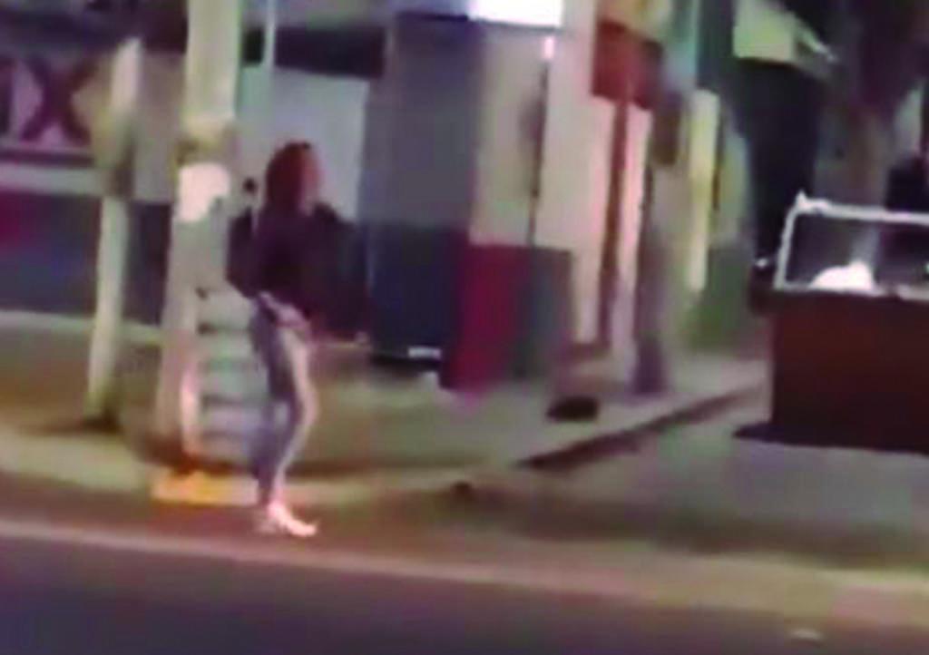 El video de lo ocurrido fue compartido en Facebook. (CAPTURA)