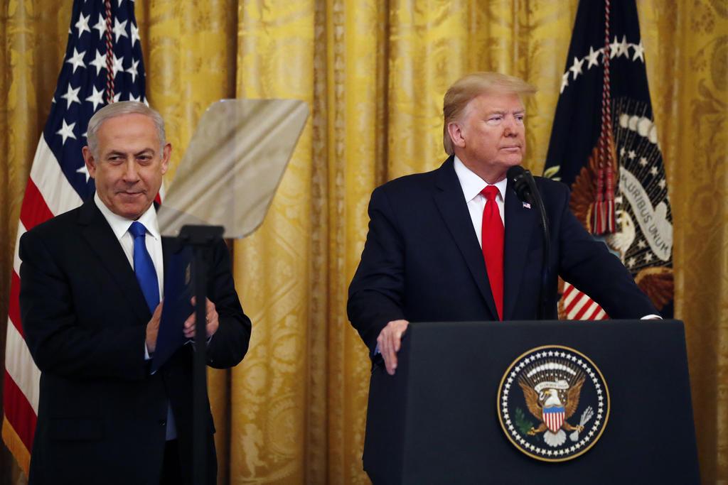 Trump describió su plan de paz para Medio Oriente como una