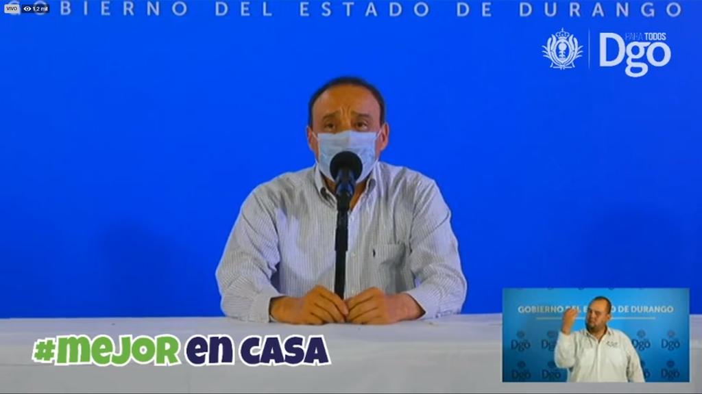 Las autoridades de Salud del estado de Durango, representadas por el secretario Sergio González Romero, presentaron como cada día la actualización sobre casos de COVID-19, enfermedad causada por el coronavirus SARS-CoV-2. (ESPECIAL)