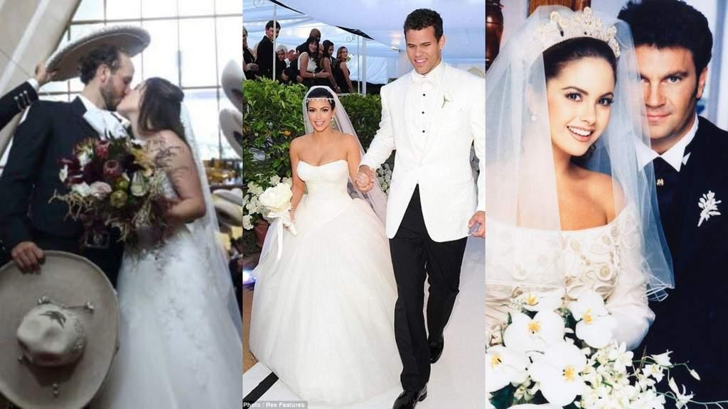 En los últimos años, varios famosos se han casado entre polémicas.  (ESPECIAL)