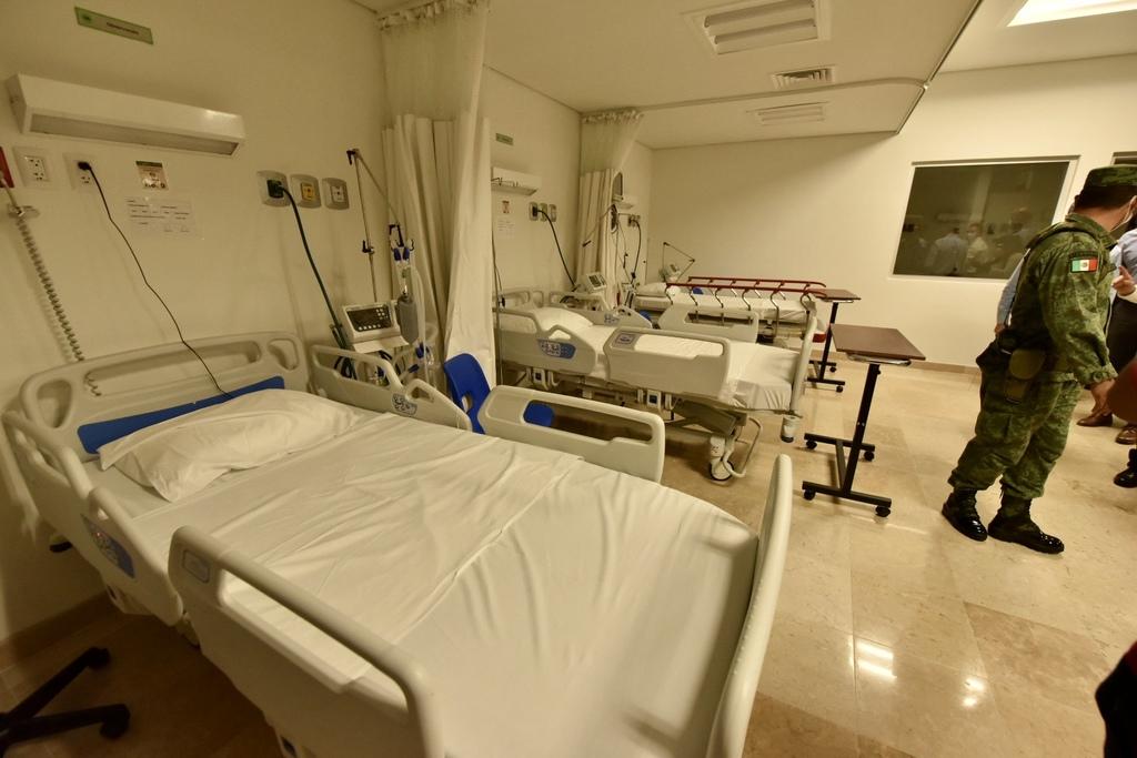 De forma inicial, el Hospital General opera con 30 camas adaptadas con ventiladores y otras 30 para pacientes en recuperación.