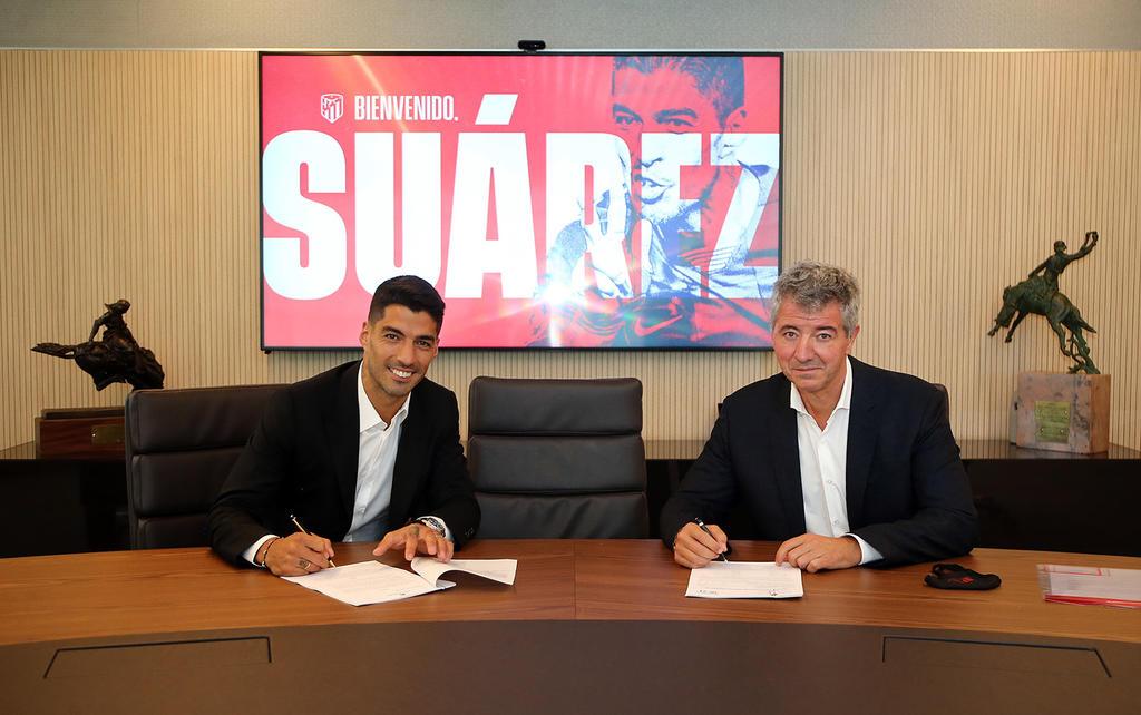Luis Suárez llega al conjunto madrileño como el tercer máximo goleador de la historia del Barcelona. (ESPECIAL)