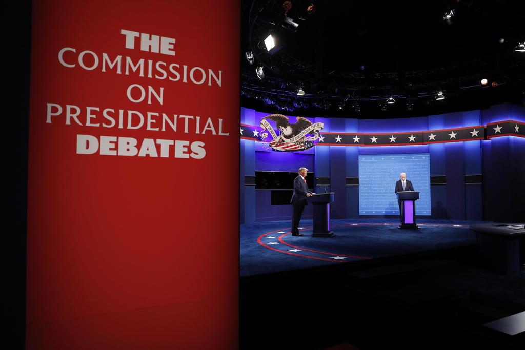 El presidente de Estados Unidos, Donald Trump, y su rival Joe Biden se enfrentan este jueves en un debate televisado en horario central que promete ser de alto voltaje, en su último duelo verbal a sólo 12 días para las elecciones. (ARCHIVO)