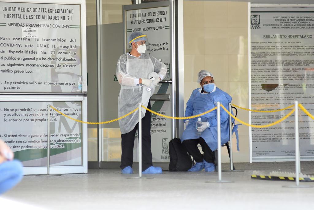 El municipio de Torreón alcanzó este viernes la cifra más alta de hospitalizaciones por COVID-19 en lo que va de la pandemia por el nuevo coronavirus al reportar a 235 pacientes contra 231 que se registraron el pasado lunes 20 de julio de 2020. (ARCHIVO)